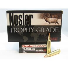 Nosler Trophy Grade .22-250 Remington 55 Gr. Ballistic Tip Varmint Spitzer- Box of 20