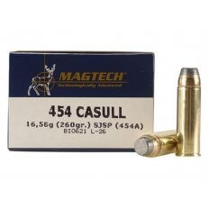 Magtech Sport .454 Casull 260 Gr. Semi-Jacketed Soft Point- Box of 20