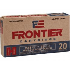 Frontier Cartridge Military Grade .223 Remington 55 Gr. Hornady Hollow Point Match FR140