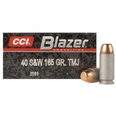 CCI Blazer .40 S&W 165 Gr. Full Metal Jacket- Box of 50