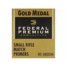 Federal Premium Gold Medal Small Rifle Match Primers #205M- Box of 1000 (HAZMAT Fee Required)