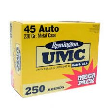 Remington UMC .45 ACP 230 Gr. Full Metal Jacket- Mega Pack of 250