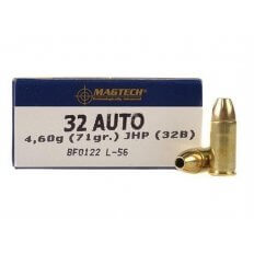 Magtech .32 Auto 71 Gr. Jacketed Hollow Point 32B