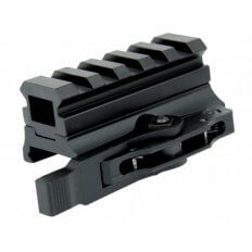 "AR15 Picatinny Riser Mount 13/16"" Height 5-Slot with Quick Release- Black- MAR027"