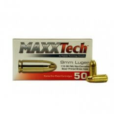 MAXXTech 9mm Luger 115 Gr. Full Metal Jacket PTGB9MMB
