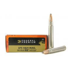 Federal Premium Vital-Shok .375 H&H Magnum 300 Gr. Nosler Partition- Box of 20