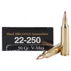 Black Hills Gold .22-250 Remington 50 Gr. Hornady V-Max 1C22250BHGN1