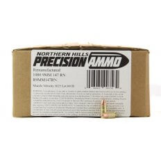 Northern Hills Precision 9mm 147 Gr. Round Nose- Remanufactured- Box of 500