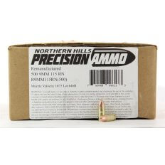 Northern Hills Precision 9mm 115 Gr. RN Plated- Remanufactured- Box of 500