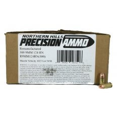 Northern Hills Precision 9mm 124 Gr. Round Nose- Remanufactured- Box of 500
