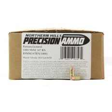 Northern Hills Precision 9mm 147 Gr. Round Nose- Remanufactured- Box of 1000
