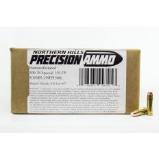 Northern Hills Precision .38 Special 158 Gr. Flat Point- Remanufactured- Box of 500