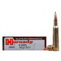 Hornady SUPERFORMANCE SST 6.5x55mm Swedish Mauser 140 Gr. SST- Box of 20