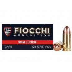 Fiocchi Shooting Dynamics 9mm Luger 124 Gr. Full Metal Jacket 9APB