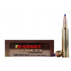 Barnes VOR-TX 7mm Remington Magnum 150 Gr. Tipped TSX Bullet Boat Tail Lead-Free- Box of 20