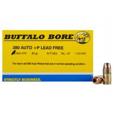 Buffalo Bore .380 ACP +P 80 Gr. Barnes TAC-XP Hollow Point- Lead-Free- Box of 20
