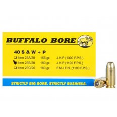 Buffalo Bore .40 S&W +P 180 Gr. Jacketed Hollow Point- Box of 20