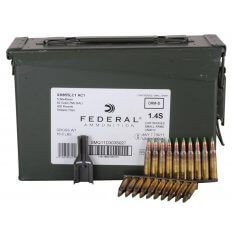 Federal Lake City 5.56x45mm 62 Gr. NATO XM855 SS109 Penetrator Full Metal Jacket- 10 Round Clips in Ammunition Can of 420 (14 Boxes of 30)