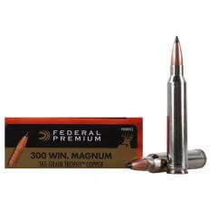 Federal Premium Vital-Shok .300 Winchester Magnum 165 Gr. Trophy Copper Tipped Boat Tail- Lead-Free- Box of 20