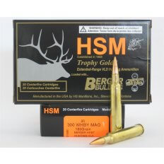 HSM Trophy Gold .300 Weatherby Magnum 210 Gr. Berger Hunting VLD Hollow Point Boat Tail- Box of 20