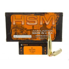 HSM Factory Blemish .243 Winchester 75 Gr. Hornady V-Max