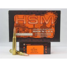HSM .270 Winchester 130 Gr. Grand Slam- Box of 20