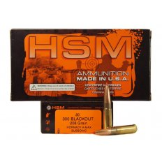 HSM .300 AAC Blackout 208 Gr. Hornady A-Max Subsonic- Box of 20