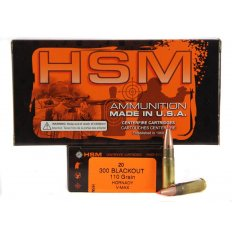 HSM .300 AAC Blackout 110 Gr. Hornady V-Max- Box of 20