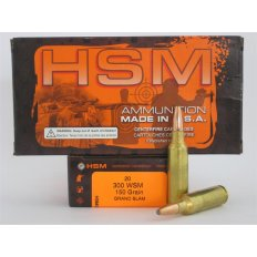HSM .300 Winchester Short Magnum (WSM) 150 Gr. Grand Slam- Box of 20