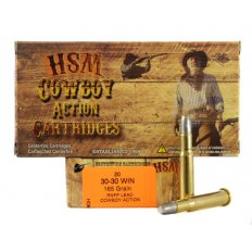 "HSM .30-30 Winchester 165 Gr. Round Nose Flat Point ""Cowboy Action"" Lead- Box of 20"