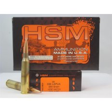 HSM .338 Lapua 250 Gr. HPBT Match - COAL 3.600 -Box of 20