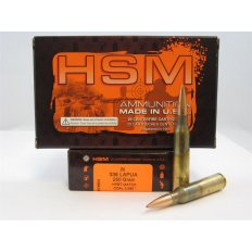 HSM .338 Lapua 250 Gr. HPBT Match- COAL 3.680- Box of 20