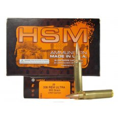HSM .338 Remington Ultra Magnum 300 Gr. HPBT Match- Box of 20