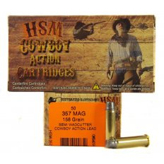 "HSM .357 Magnum 158 Gr. Semi-Wadcutter ""Cowboy Action"" Lead- Box of 50"