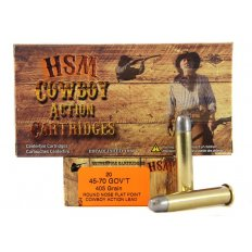 "HSM .45-70 405 Gr. Round Nose Flat Point ""Cowboy Action"" Lead- Box of 20"