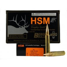 HSM Trophy Gold .338 Remington Ultra Magnum 300 Gr. Berger Hybrid OTM Tactical- Box of 20