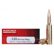 Black Hills .338 Norma Magnum 300 Gr. Sierra MatchKing Hollow Point- Box of 20