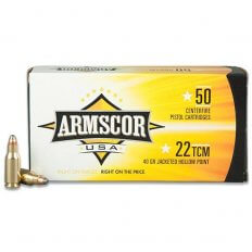Armscor Precision .22 TCM 40 Gr. Jacketed Hollow Point- Box of 50