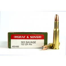 Graf & Sons Hornady .303 Savage 150 Gr. Soft Point Round Nose- Box of 20