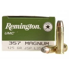 Remington UMC .357 Magnum 125 Gr. Jacketed Soft Point- Box of 50