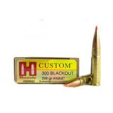 Hornady Custom .300 AAC Blackout 208 Gr. A-Max Boat Tail- Box of 20