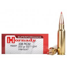 Hornady SUPERFORMANCE SST .338 Ruger Compact Magnum (RCM) 200 Gr. SST- Box of 20