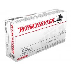 Winchester USA .40 S&W 180 Gr. Full Metal Jacket- Box of 50