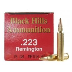 Black Hills .223 Remington 75 Gr. Heavy Match Hollow Point- Box of 50