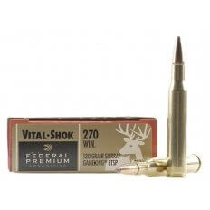 Federal Premium Vital-Shok .270 Winchester 130 Gr. Sierra GameKing Soft Point Boat Tail- Box of 20