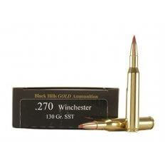 Black Hills Gold .270 Winchester 130 Gr. Hornady SST- Box of 20