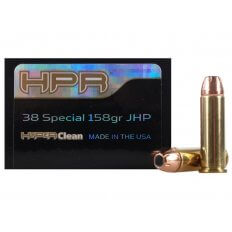 HPR HyperClean .38 Special 158 Gr. Hornady XTP Jacketed Hollow Point- Box of 50