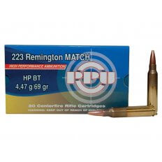 Prvi Partizan Match .223 Remington 69 Gr. Hollow Point Boat Tail- Box of 20