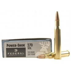 Federal Power-Shok .270 Winchester 130 Gr. Soft Point- Box of 20