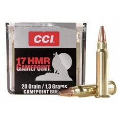 CCI GamePoint .17 HMR 20 Gr. Jacketed Spire Point- Box of 50